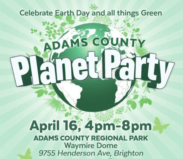 Adams County Planet Party Flyer