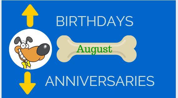 Birthday and Anniversaries